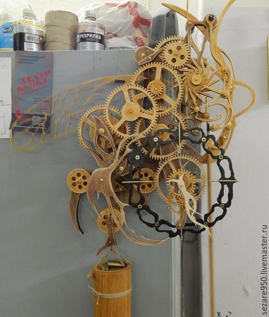Часы для дома ручной работы. Ярмарка Мастеров - ручная работа. Купить Деревянные часы, настенные, маятниковые.. Handmade. Часы настенные
