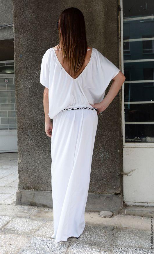 Белое платье. Платье. Модное платье. Платье в пол. Ярмарка Мастеров.