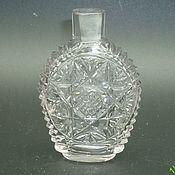 handmade. Livemaster - original item PERFUME BOTTLE. colorless glass. 19th century CARVING. RUSSIA Maltsov. Handmade.