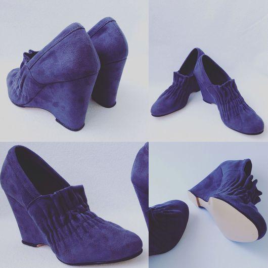 Обувь ручной работы. Ярмарка Мастеров - ручная работа. Купить Туфли складки 2. Handmade. Туфли, туфли красивые, каблук