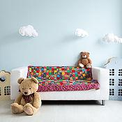 """Для дома и интерьера ручной работы. Ярмарка Мастеров - ручная работа Для новорождённого ватное одеяло""""Пёстрое""""лоскутное. Handmade."""