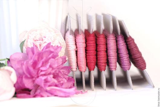 """Шитье ручной работы. Ярмарка Мастеров - ручная работа. Купить Льняной шнур """"Ароматный пион"""" 2 мм, 7 цветов. Handmade."""