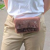 Сумки и аксессуары handmade. Livemaster - original item Waist bag: Felted bag Old Town. Handmade.