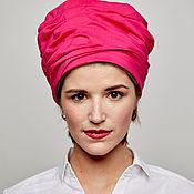 Аксессуары handmade. Livemaster - original item Turban hat hijab of hot pink cotton turban. Handmade.