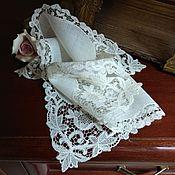 Винтаж ручной работы. Ярмарка Мастеров - ручная работа Старинный кружевной платочек. Handmade.
