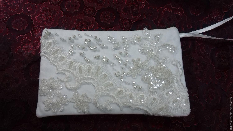 как сшить фото белой свадебной сумочки джонсон стала