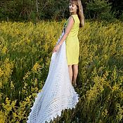handmade. Livemaster - original item Downy openwork shawl Russian Fairy Tale. Handmade.