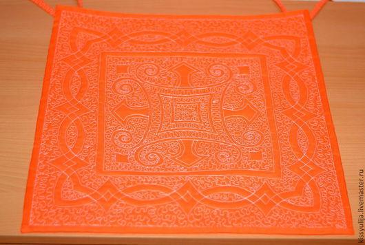 Кухня ручной работы. Ярмарка Мастеров - ручная работа. Купить Сидушки на стулья стеганные. Handmade. Оранжевый, текстиль для интерьера