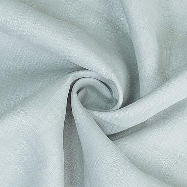 Материалы для творчества ручной работы. Ярмарка Мастеров - ручная работа Ткань льняная тонкая блузочная Жемчужно-серая. Handmade.