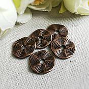 Материалы для творчества handmade. Livemaster - original item 10 pcs. Beads separators, discs of 13 mm color copper (Ref. 2740). Handmade.