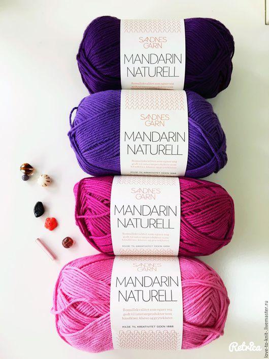 Вязание ручной работы. Ярмарка Мастеров - ручная работа. Купить Пряжа Mandarin naturell от Sandnesgarn (Норвегия). Handmade. Фиолетовый, красный