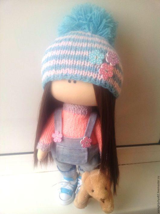 Куклы тыквоголовки ручной работы. Ярмарка Мастеров - ручная работа. Купить Интерьерная кукла. Handmade. Бирюзовый, кулон, текстильная игрушка