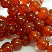 Материалы для творчества handmade. Livemaster - original item Carnelian beads natural 10 mm. for PCs. Handmade.