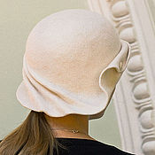 Аксессуары handmade. Livemaster - original item Hat Cloche white. Handmade.