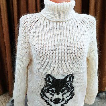 Одежда ручной работы. Ярмарка Мастеров - ручная работа Шерстяной свитер. Handmade.