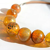 Украшения handmade. Livemaster - original item Necklace made from hand-blown beads