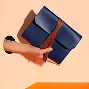 Канцелярские товары handmade. Livemaster - original item Leather notebook with rings. Handmade.
