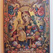 Картины и панно handmade. Livemaster - original item Immortal flower icon written hot colors on the tree. Handmade.