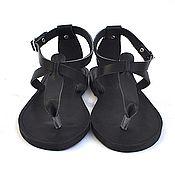 """Обувь ручной работы. Ярмарка Мастеров - ручная работа Кожаные сандалии """"Т"""" с пяточкой. Handmade."""