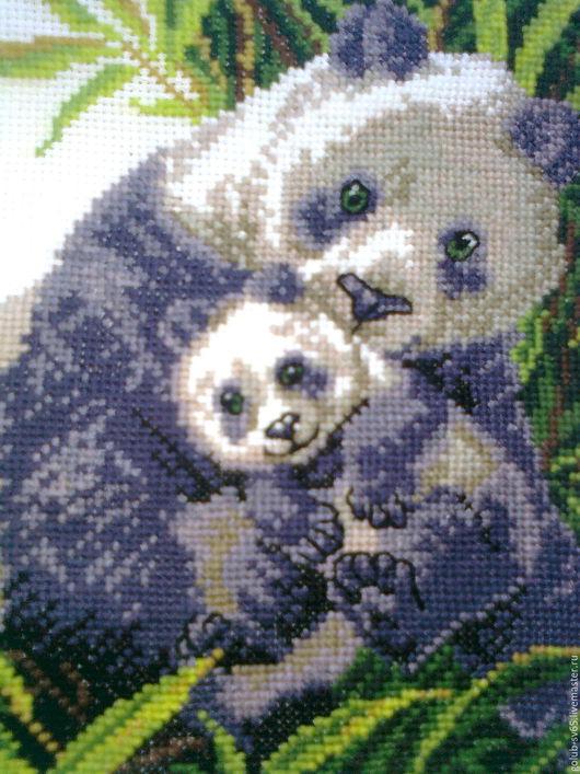 Животные ручной работы. Ярмарка Мастеров - ручная работа. Купить Панды. Handmade. Серый, картина для интерьера