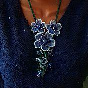 Украшения handmade. Livemaster - original item Necklace with flowers. Handmade.