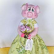 Куклы и игрушки ручной работы. Ярмарка Мастеров - ручная работа Свинка Грета))). Handmade.