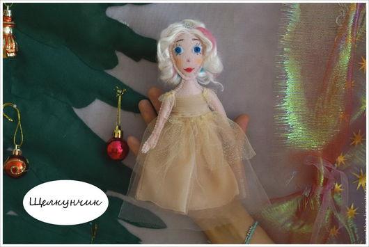 """Кукольный театр ручной работы. Ярмарка Мастеров - ручная работа. Купить Кукла пальчиковая Мари-принцесса """"Щелкунчик и мышиный король"""". Handmade."""