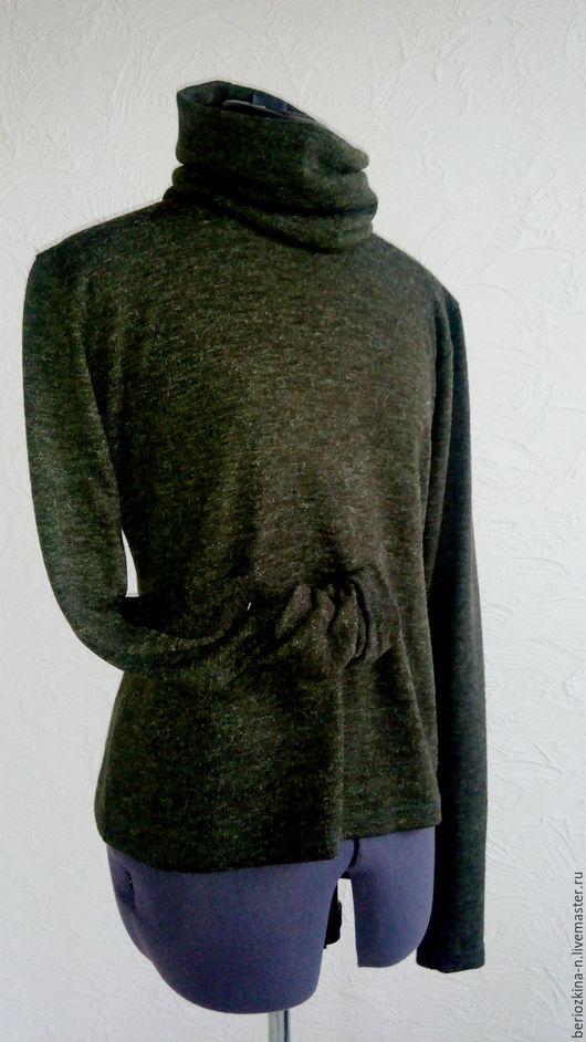 """Кофты и свитера ручной работы. Ярмарка Мастеров - ручная работа. Купить Водолазка """"Загорелая оливка"""". Handmade. Тёмно-зелёный, трикотаж"""