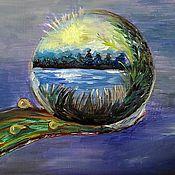 Картины и панно ручной работы. Ярмарка Мастеров - ручная работа Картина Зеркало мира. Handmade.