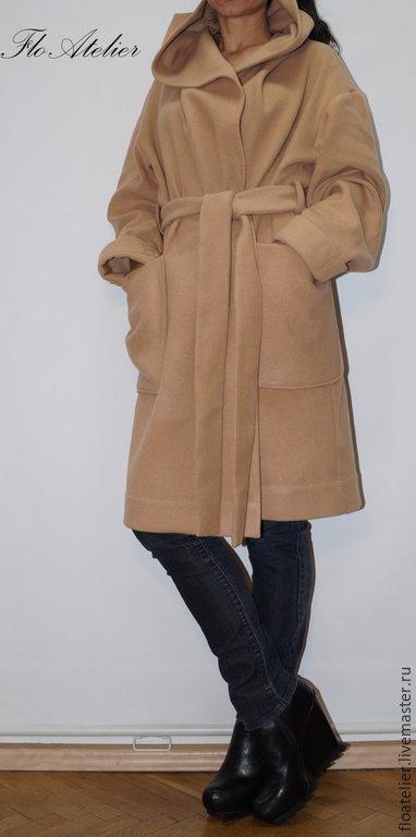 Верхняя одежда ручной работы. Ярмарка Мастеров - ручная работа. Купить Длинное зимное пальто из шерсти/Пальто с капюшоном/ F1275. Handmade.