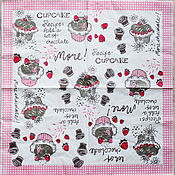 Материалы для творчества handmade. Livemaster - original item 12pcs cupcake napkins decoupage. Handmade.