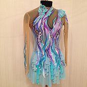 Одежда ручной работы. Ярмарка Мастеров - ручная работа Платье «Южный ветер» для фигурного катания или художественной гимнасти. Handmade.
