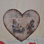"""Подарки к праздникам ручной работы. Ярмарка Мастеров - ручная работа сувенир сердце """" зимние забавы ! """". Handmade."""