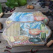 """Для дома и интерьера ручной работы. Ярмарка Мастеров - ручная работа """"Фондю"""" сырные доски. Handmade."""