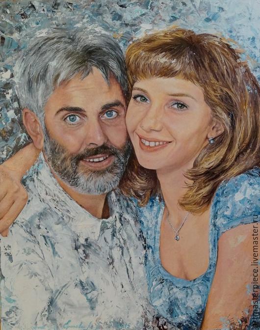 Люди, ручной работы. Ярмарка Мастеров - ручная работа. Купить Портрет. К свадьбе. Холст на подрамнике, масло, 40х50 см.. Handmade.