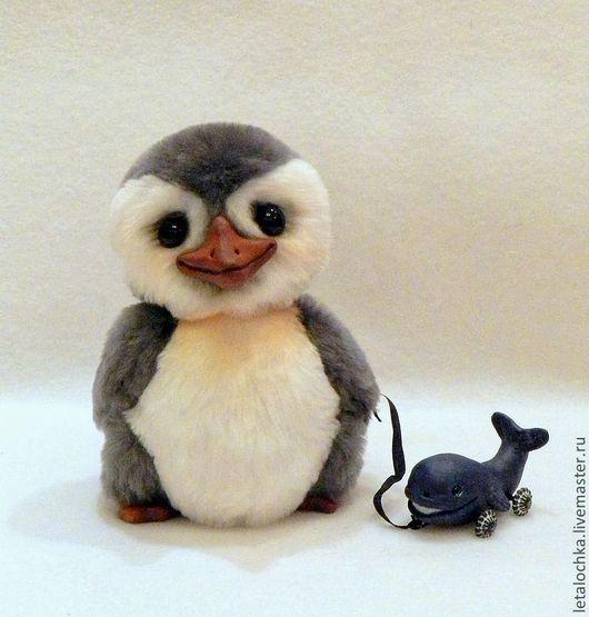 Мишки Тедди ручной работы. Ярмарка Мастеров - ручная работа. Купить Пингвиненок Олли и его друг Вилли. Handmade. клюв