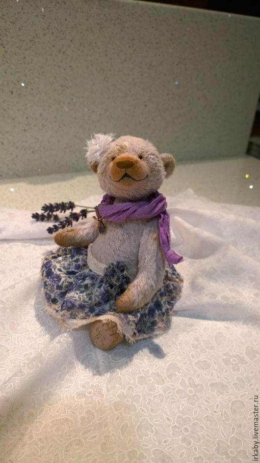 Мишки Тедди ручной работы. Ярмарка Мастеров - ручная работа. Купить Мишка-тедди Лиза. Handmade. Бледно-сиреневый
