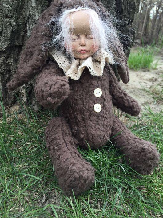 Коллекционные куклы ручной работы. Ярмарка Мастеров - ручная работа. Купить Теддидолл. Handmade. Коричневый, кукла ручной работы, микрофибра