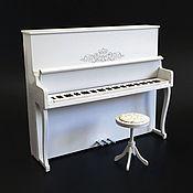 Куклы и игрушки handmade. Livemaster - original item Piano with a banquette for dolls 1:6 (YoSD BJD, Barbie, etc.). Handmade.