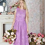 """Одежда ручной работы. Ярмарка Мастеров - ручная работа """"Сказочная Роза"""" элегантное вязаное крючком платье в пол с розами. Handmade."""