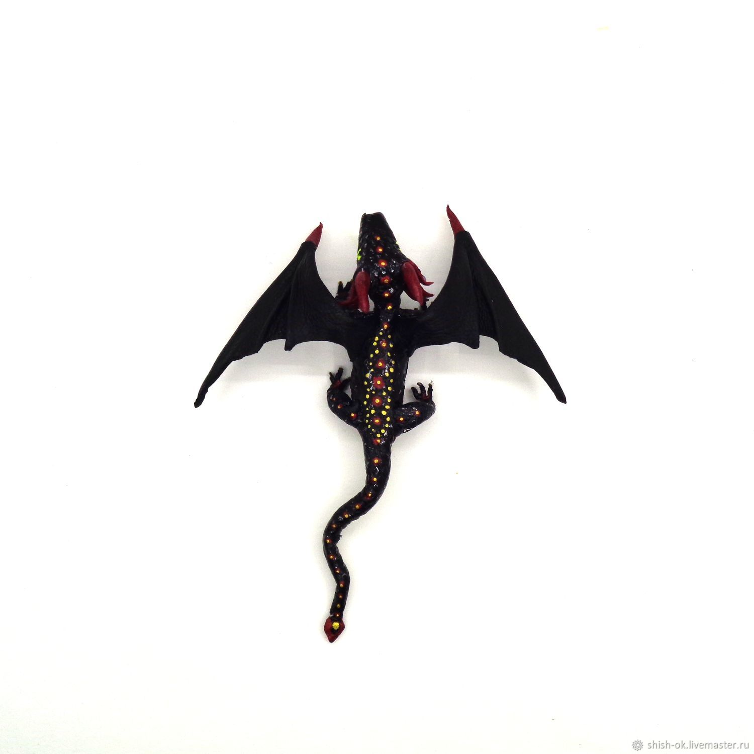 Brooch made of leather 'Dragon custom', Brooches, Moscow,  Фото №1