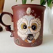 Посуда handmade. Livemaster - original item Mugs and cups: Owl coffee. Handmade.
