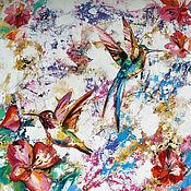 Картины и панно handmade. Livemaster - original item Oil painting with birds