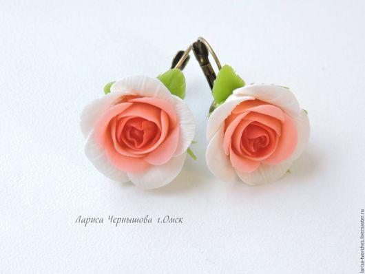 Серьги ручной работы. Ярмарка Мастеров - ручная работа. Купить Серьги Розы. Handmade. Серьги розы, розы