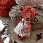 Куклы и игрушки handmade. Livemaster - original item Fox Toffee, knitted toy Fox. Handmade.