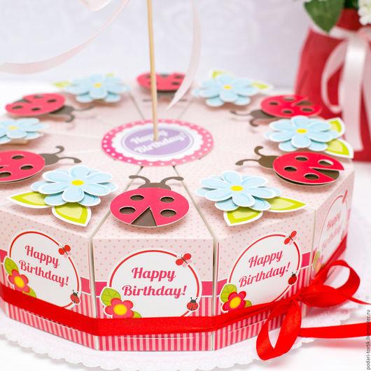 """Праздничная атрибутика ручной работы. Ярмарка Мастеров - ручная работа. Купить Торт из бумаги """"Happy Birthday"""". Handmade. Торт из бумаги"""