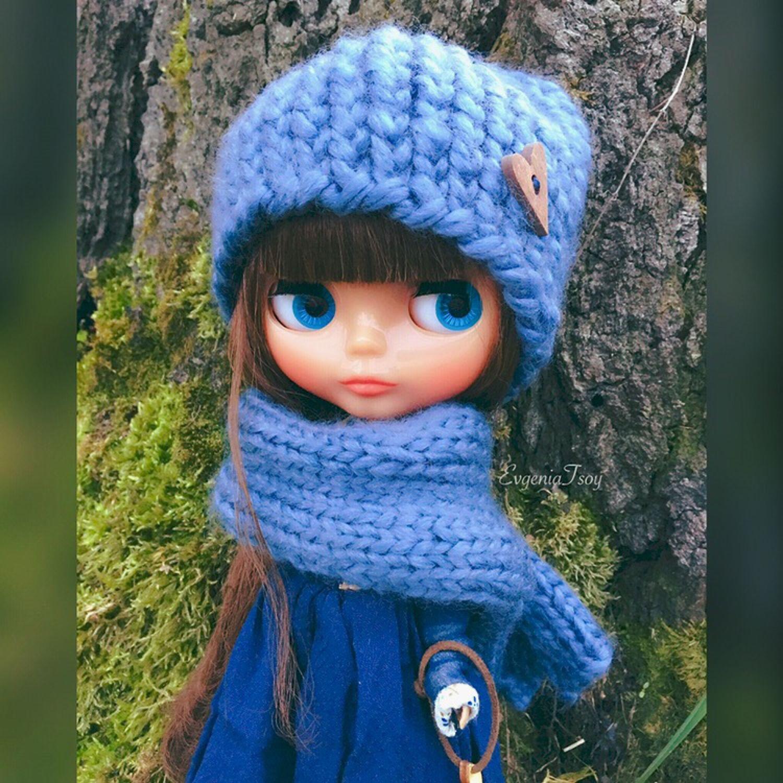 Одежда для кукол ручной работы. Ярмарка Мастеров - ручная работа. Купить Аксессуары (комплекты шапочка/шарф) для куклы Блайз (Blythe). Handmade.