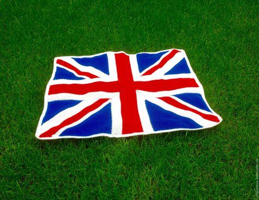 """Текстиль, ковры ручной работы. Ярмарка Мастеров - ручная работа. Купить Плед детский """"Британский флаг"""". Детский плед, вязаный детский плед. Handmade."""