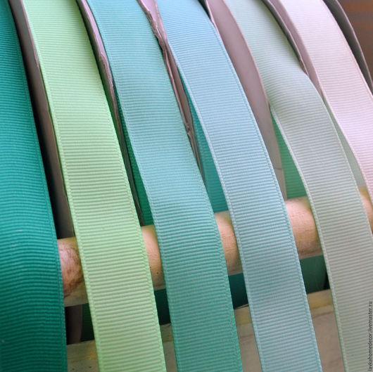 Лента репсовая 20мм, мятные цвета