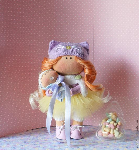 Коллекционные куклы ручной работы. Ярмарка Мастеров - ручная работа. Купить Кисуня. Handmade. Сиреневый, кукла текстильная, подарок девушке